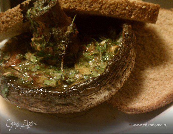 Грибной сэндвич с ароматным маслом