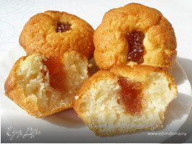 """Кексы """"Улет"""" с яблочным джемом"""