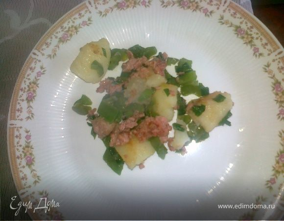 Хрустящая картошка с кинзой