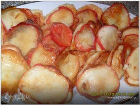Оладьи на рисовой каше с яблоками