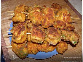Шашлычки из курицы в панировке
