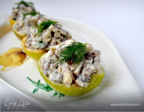 Салат из сельди в яблоках+селёдочный паштет