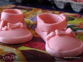 Детские туфельки из мастики