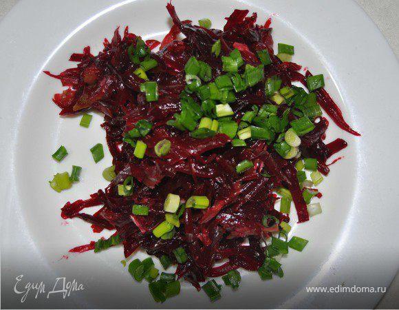 салат из свеклы с огурчиком