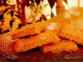 Соленое печенье из пива с кунжутом
