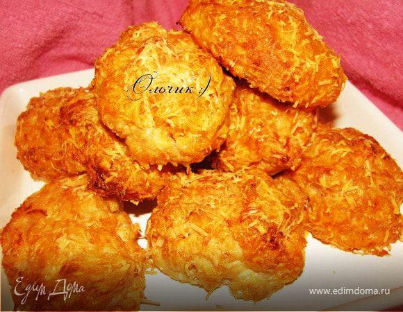 Печеные котлетки из индюшиного филе с тыквой в сырной панировке.