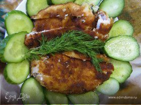 Куриное филе фаршированное сыром и зеленью
