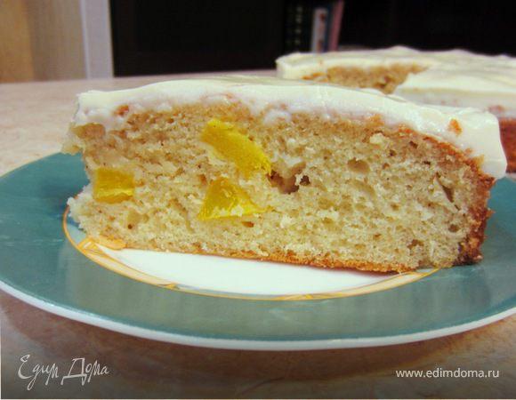 Пирог с манго и сметаной