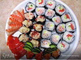Японская кухня: Сашими, Гунканмаки, Маки (повтор)