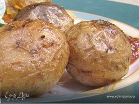 Запеченный картофель с семенами фенхеля