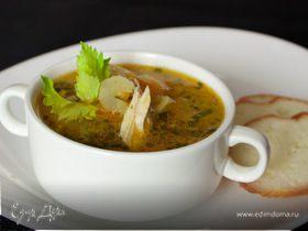 Томатно-сельдерейный суп с говядиной