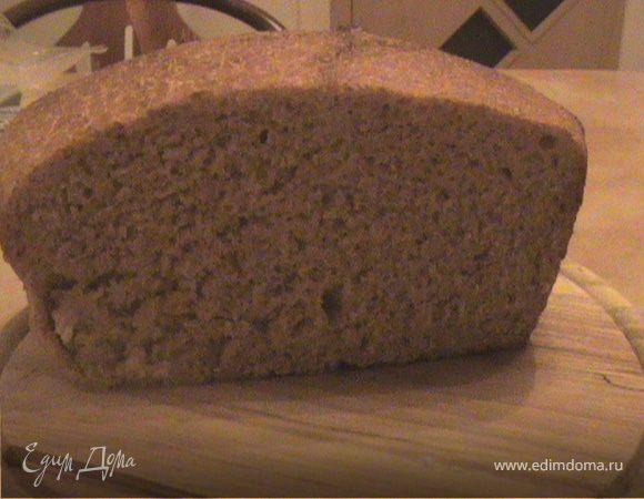 Хлеб на закваске с цельнозерновой мукой (бездрожжевой)