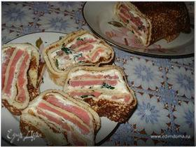 Закуска с блинами и форелью/семгой