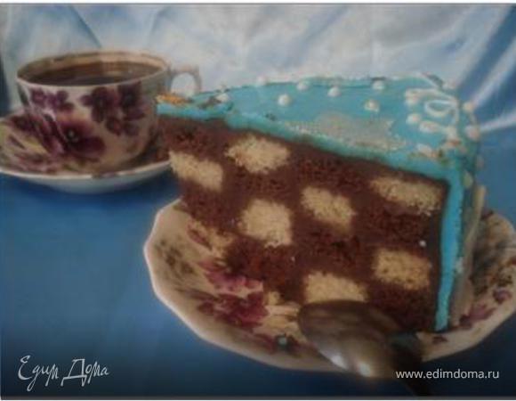 Торт «Новогодний» (шахматный)