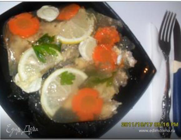Заливное из минтая с желатином рецепт пошагово