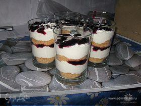 Холодный творожный тортик с белым шоколадом и крошкой от Карин Горен
