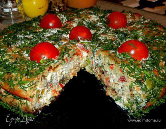 Сырно-овощной пирог