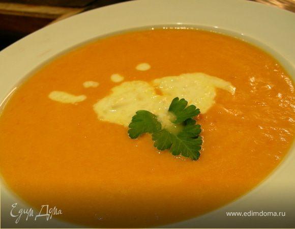 Тыквенный суп-пюре с имбирным кремом
