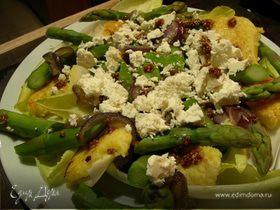 Салат из спаржи и поленты