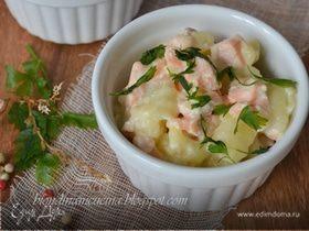 Картофельные ньокки с соусом из лосося