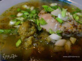 Суп « Зелемашка для Глебяшки»