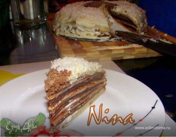 """Блинный торт """"Зебра"""""""