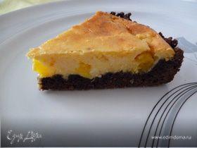 Пирог с творожно-апельсиновым пудингом