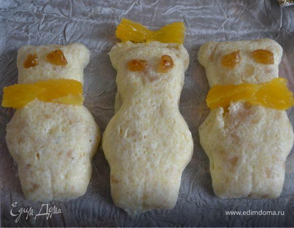 """Творожная запеканка с бананом и апельсинами """"Три медведя"""""""