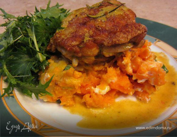 Картофель и батат с сыром фета от Джейми Оливера