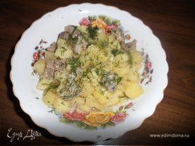 Тушеная картошка с мясом