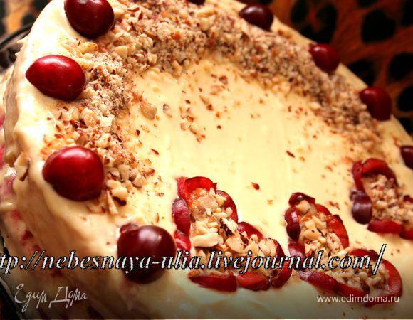 Простой Черешнево-Ореховый торт