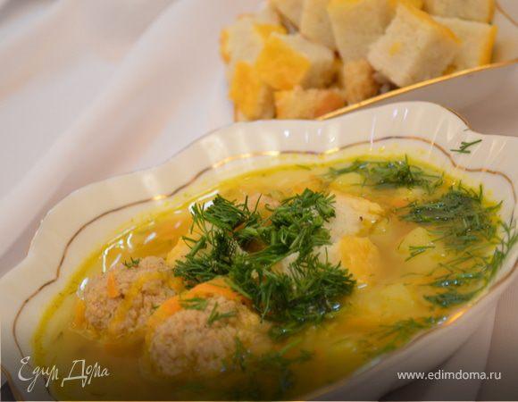 Суп с рисовыми кубиками