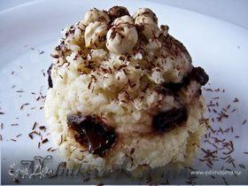 """Рисовый пудинг """"К завтраку"""" с шоколадом и орехами"""