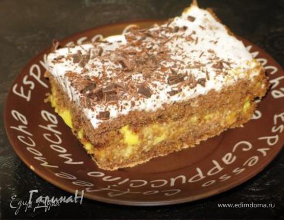 Шоколадные пирожные с цитрусовой прослойкой