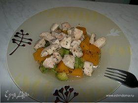 Мясо индейки и курицы с весенними овощами