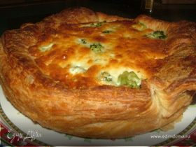 Открытый пирог с брокколи