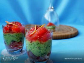 Форель с авокадо и грейпфрутом (Закуска для нас,для девочек!)