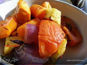 Запеченные зимние овощи