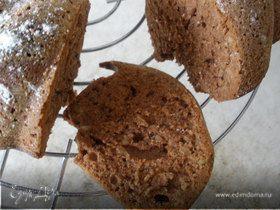 Кекс шоколадный с орехами