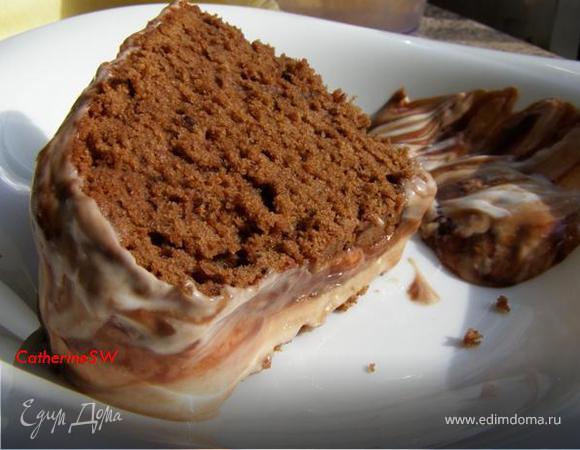 Шоколадный кекс с мраморной глазурью