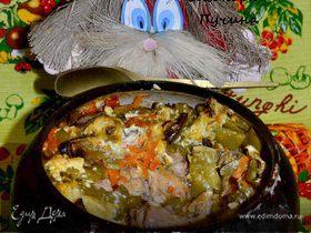 Курица в горшке-чугунке!)