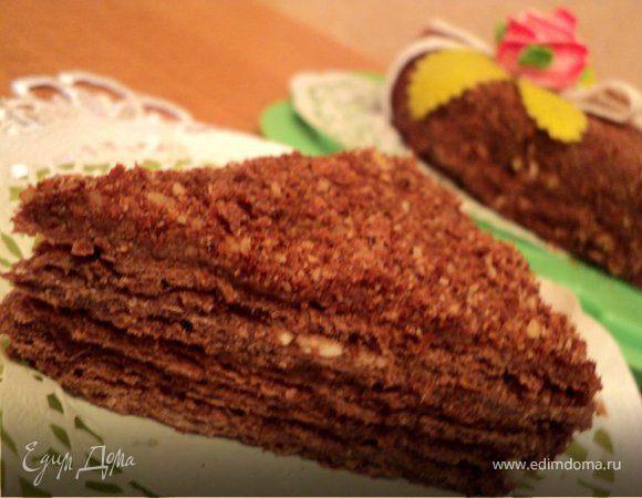Торт наполеон с какао