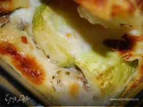 Лазанья с кабачками и грибами