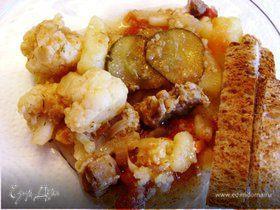 Солянка овощная с мясом