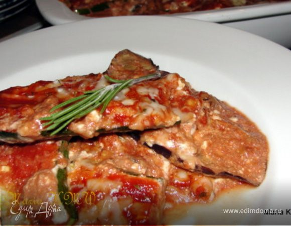 Баклажанно-томатный гратен