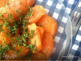 Глазированная морковь с зеленью