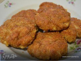 Рубленые куриные котлетки с сыром