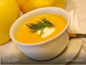 Суп-пюре из репы,сельдерея,курицы и тыквы