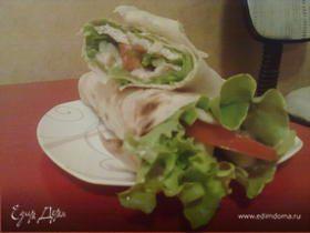 Салат в лаваше
