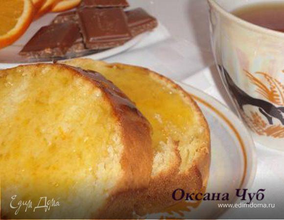 Апельсиновый кекс с карамелью
